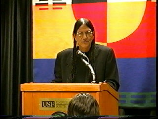 Gabriel Horn Native American author, Motherless, University of South Florida, Save the Earth, Native American wisdomgabe-usf-lecture_med
