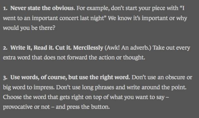 Writing Short Tips from a Master Bernard Holland, Something I Heard, Chopin, music critic